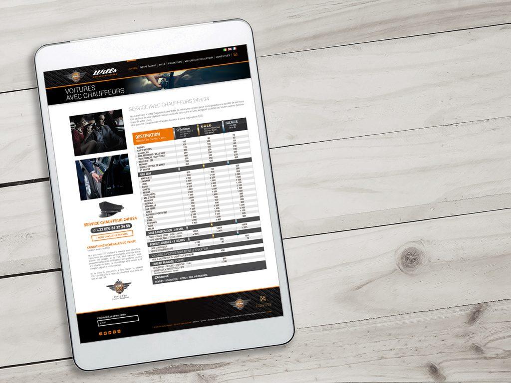 Web Wills Tablett