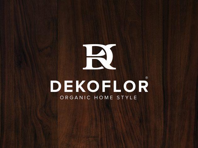 dekoflor logo fond bois