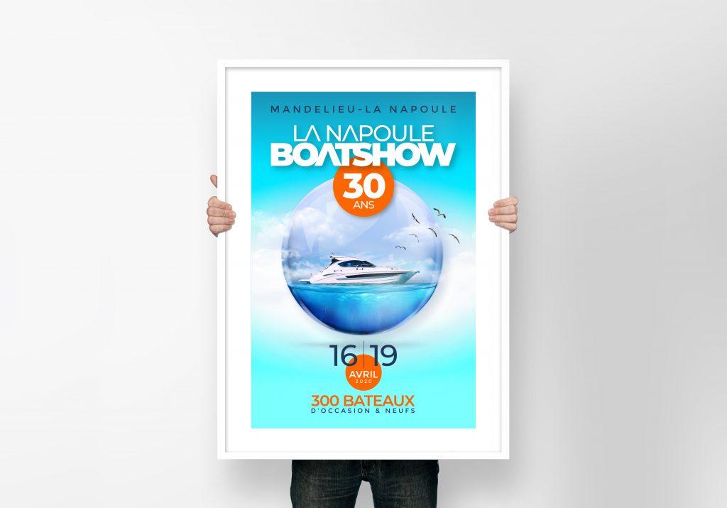 affiche Boat show mockup poster