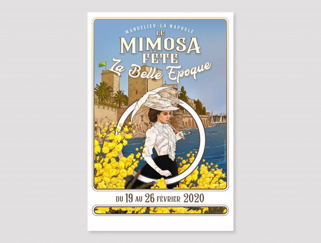 Affiche Fete du Mimosa Finale 40x60